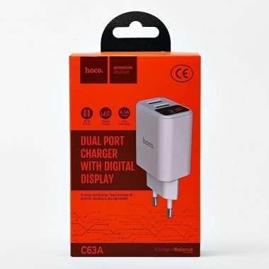 Сетевое зарядное устройство HOCO C63A Victoria 2USB (белое) — 5